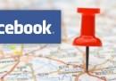Facebook geolocalizza
