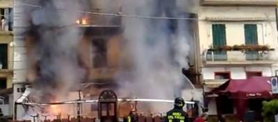 Il video dell'incendio al Big Ben di Sanremo