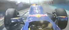 A bordo dell'auto di Webber, durante l'incidente