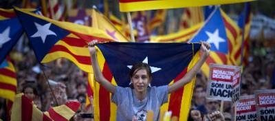 La manifestazione di Barcellona