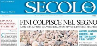 """Il Secolo d'Italia non è più """"nel PdL"""""""