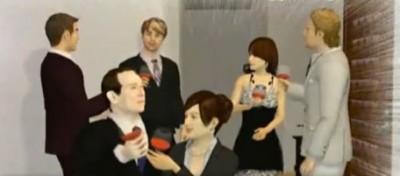 Berlusconi e Ruby, animati