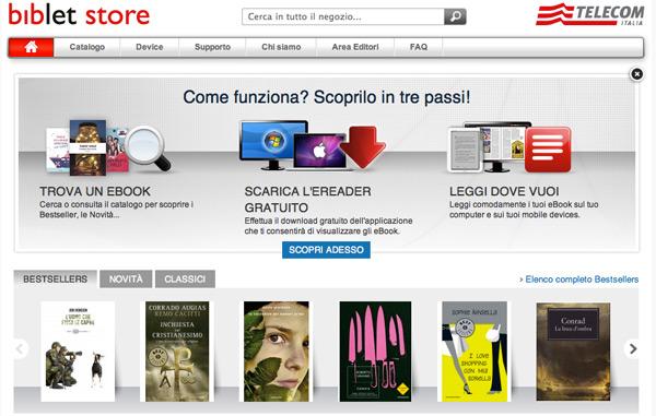 I piani di telecom italia e mondadori per gli ebook il post for Piani di una camera per gli ospiti