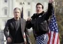 Stewart e Colbert a Washington: le foto