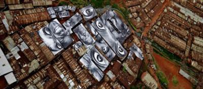 Ritratti enormi sui muri del mondo