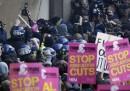 La protesta degli studenti di Londra