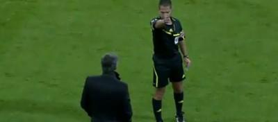 Mourinho espulso per la prima volta in Spagna