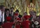 Gli Obama ballano in India