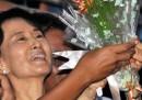 I video della liberazione di Suu Kyi