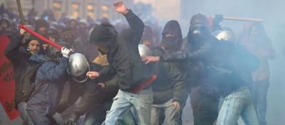 A Roma, attratto dalla violenze