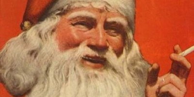 Babbo Natale fuma Lucky Strike