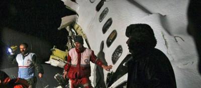 Il vecchio Boeing iraniano precipitato in Azerbaijan
