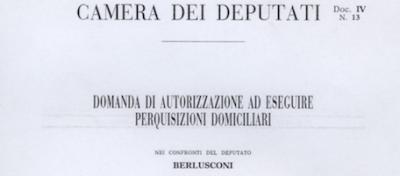 La domanda di perquisizione a Berlusconi