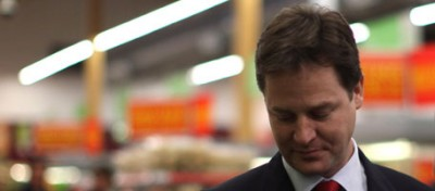 Nick Clegg sulle montagne russe