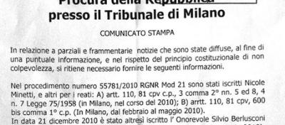 Cosa dice la procura su Berlusconi e Ruby