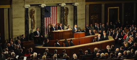 US President Barack Obama delivers his S