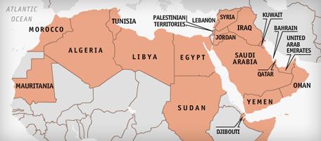 Cartina Italia E Nord Africa.Il Malcontento Nel Nordafrica In Una Mappa Il Post