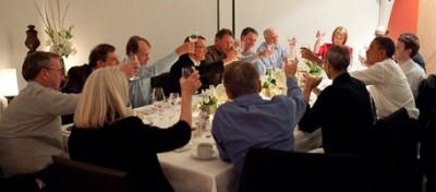 Le foto della cena di Obama con i capi della rete
