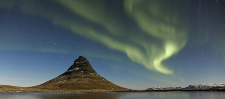 Northern Lights By Full Moon