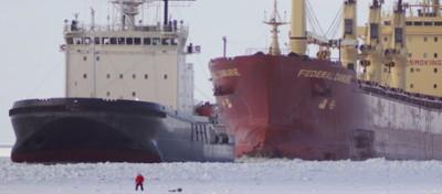 Le navi intrappolate nel ghiaccio