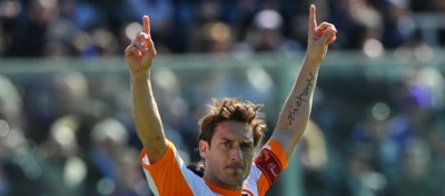 Il gol numero 200 di Totti in Serie A