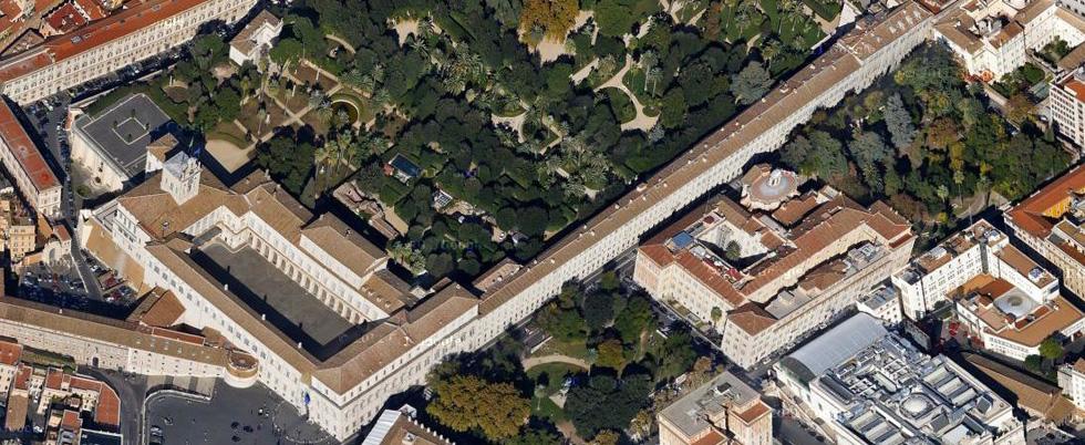 Volare su roma foto il post - I giardini del quirinale ...