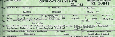 Il certificato di nascita di Obama