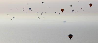 La traversata della Manica in mongolfiera