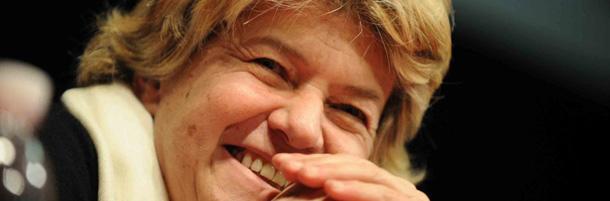 Susanna Camusso, segretaria generale, ospite di un convegno della CGIL.