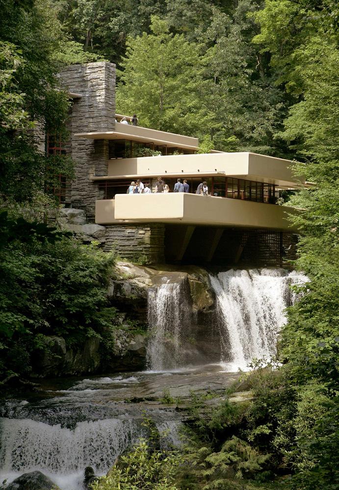 Perch la casa sulla cascata importante il post for Frank lloyd wright style piani per la casa