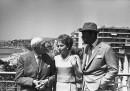 Andre Maurois, Olivia de Havilland e Rex Harrison, 1965 (AP Photo)