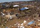 I danni del tornado visti dall'alto