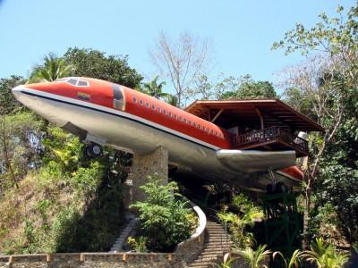 Un hotel dentro un aereo