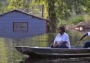 Le case sommerse dall'acqua