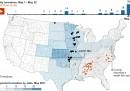 La mappa dei tornado negli Stati Uniti