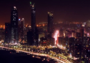I grattacieli e le luci di Abu Dhabi