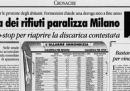 L'emergenza rifiuti a Milano
