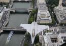 I caccia in volo su Parigi
