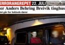 Breivik accusato di terrorismo