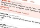I tweet della regina