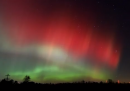 Aurora boreale rossa, in Michigan