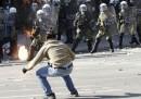 Le proteste di giovedì in Grecia