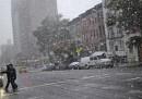 La neve d'ottobre negli Stati Uniti