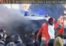 La polizia e gli scontri di Roma