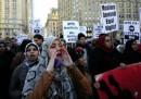 La protesta dei musulmani di New York