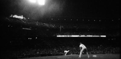 Il baseball in bianco e nero