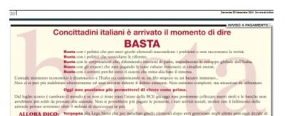 L'ennesima pagina a pagamento sul Corriere