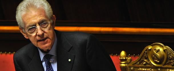 Italian Prime Minister Mario Monti deliv