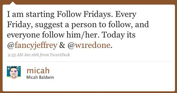 followfridaytweet