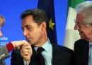 L'incontro tra Monti, Merkel e Sarkozy